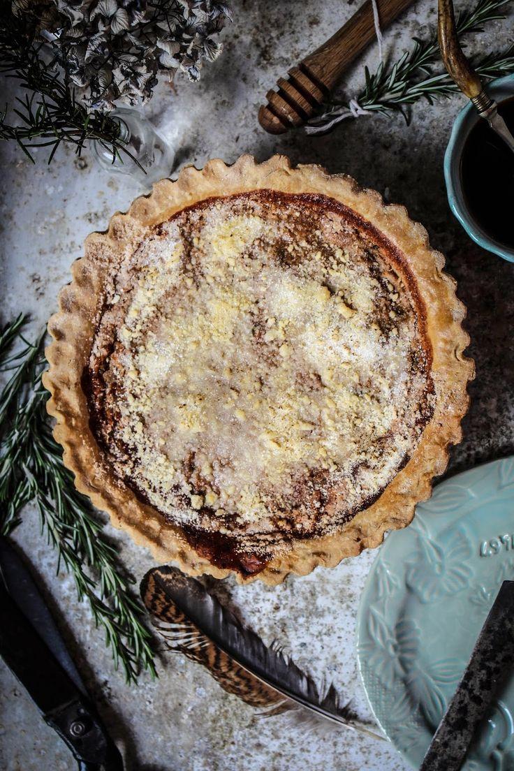 honey and rosemary shoofly pie from four and twenty blackbirds pie book.