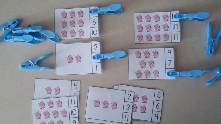 Farm Friends Count and Clip Cards  (Sets to 12)  $  http://www.teacherspayteachers.com/Product/Farm-Friends-Count-and-Clip-Cards-Sets-to-12-771243