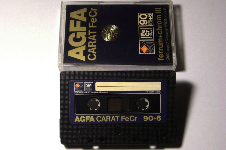 AGFA CARAT  VINTAGE AUDIO CASSETTE TAPE FeCr 90 ( 1979 )(USED) ( GERMANY  #AGFACARAT