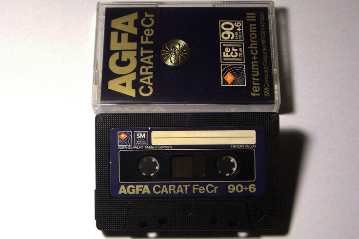 AGFA CARAT  VINTAGE AUDIO CASSETTE TAPE FeCr 90 ( 1979 )(USED) ( GERMANY  #AGFACARAT