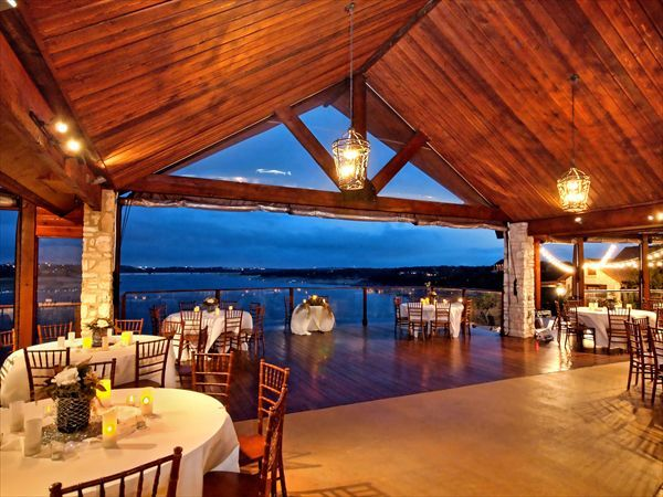 Top 10 Texas Wedding Venues: Nature's Point — The stunning outdoor event space with the cabin-like venue and the lake view is to-die-for