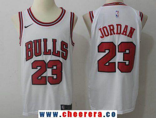 2b3ecce041db34 Men s Chicago Bulls  23 Michael Jordan White 2017-2018 Nike Swingman  Stitched NBA Jersey