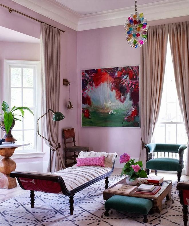 Vibrant colors CAN work well together. Easily incorporate Pantone's Cashmere Rose fall color into your space.
