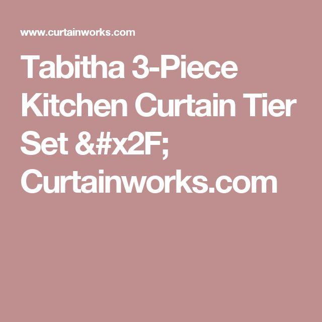 Tabitha 3-Piece Kitchen Curtain Tier Set / Curtainworks.com