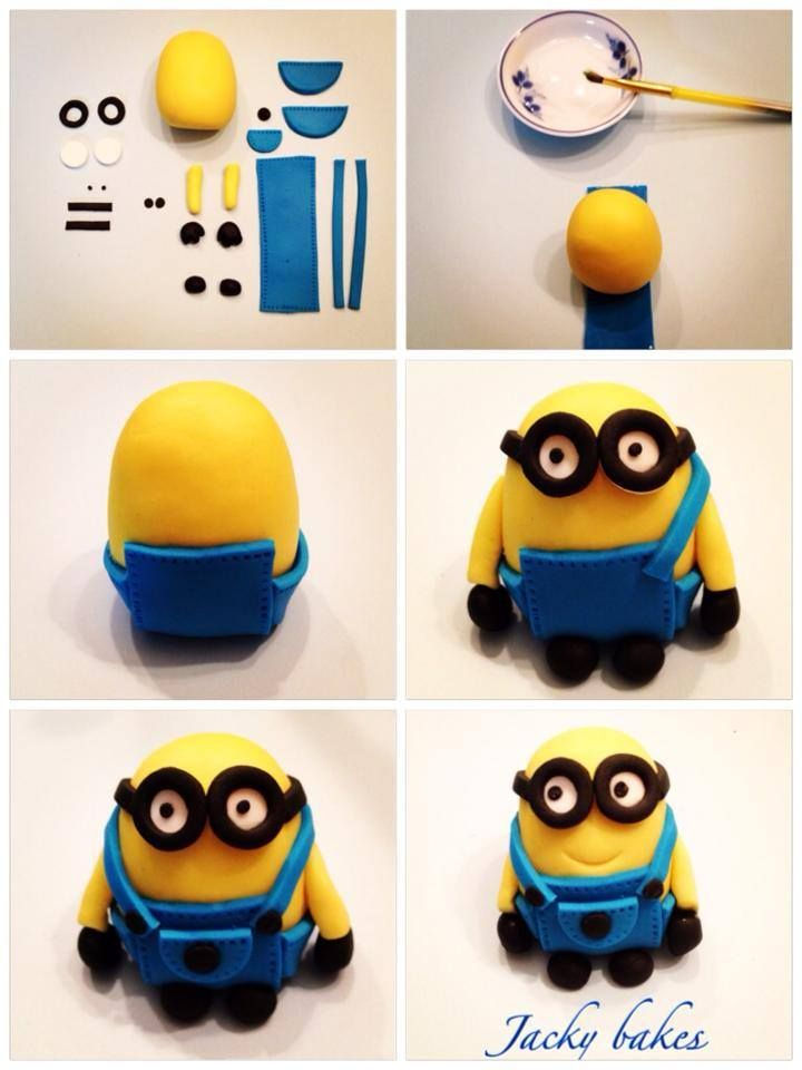 Minion step by step  fondant characters  Pinterest  Step by step ...