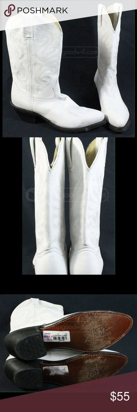 Durango Boots. White. Sz 9M Gently worn. White cowgirl boots. Durango Shoes Heeled Boots
