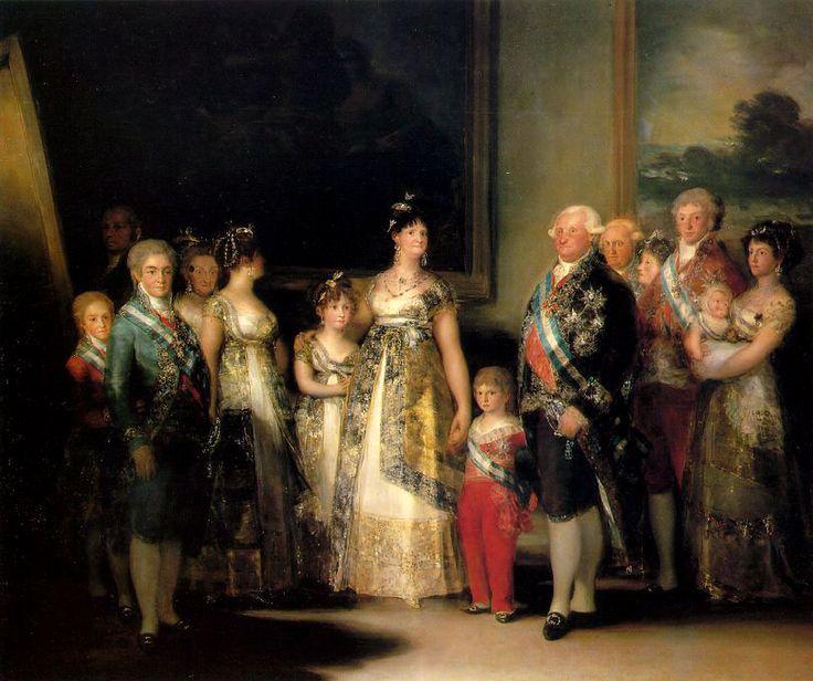"""""""La famiglia di Carlo IV"""", Francisco Goya,1800-1801; olio su tela, 280×336 cm; l'opera, commissionata dalla famiglia reale spagnola, è conservata al Museo del Prado di Madrid."""