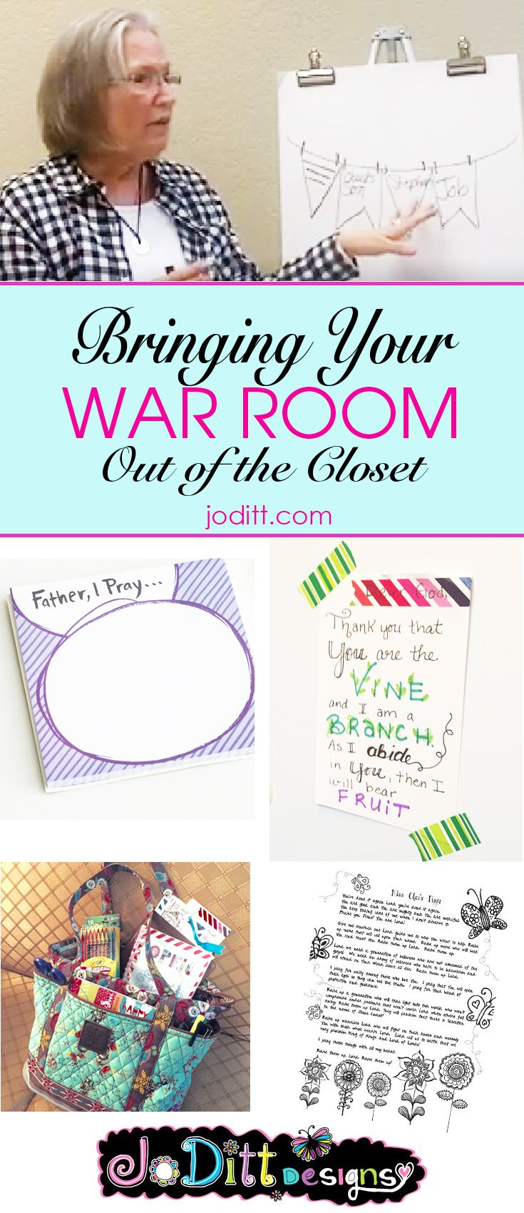 "Have you seen the movie, War Room, starring Priscilla Shirer? If not, I highly recommend it! Not only is it very inspiring, but it is also very well written and produced. In the movie, the term ""war room"" is what Miss Clara calls her prayer closet (an actual closet) where she goes to ""fight"" in prayer. …"