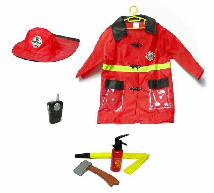 Disfraz bombero, con accesorios