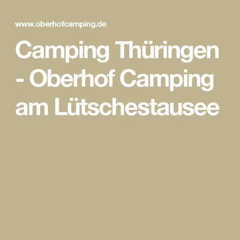 Camping Thüringen - Oberhof Camping am Lütschestausee