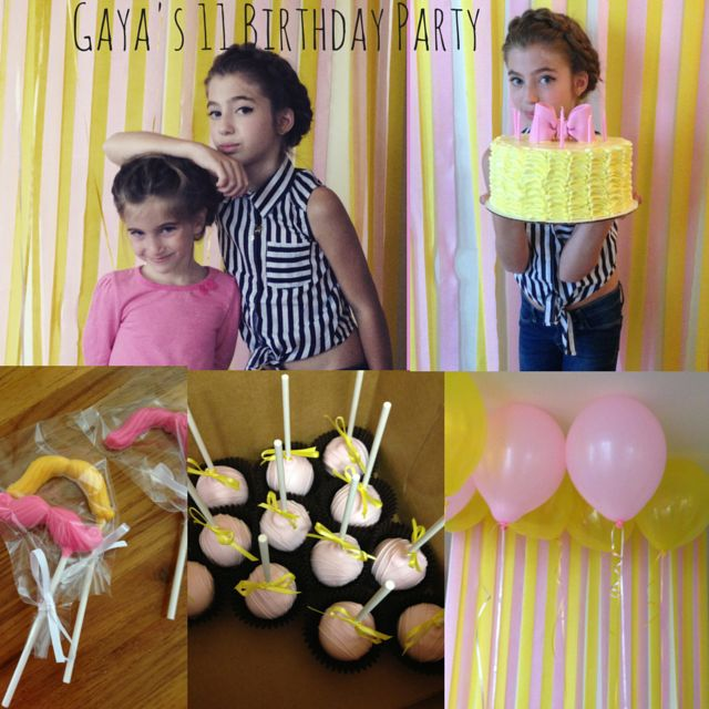 Photo Booth Birthday Party For 11 Years Old Girl