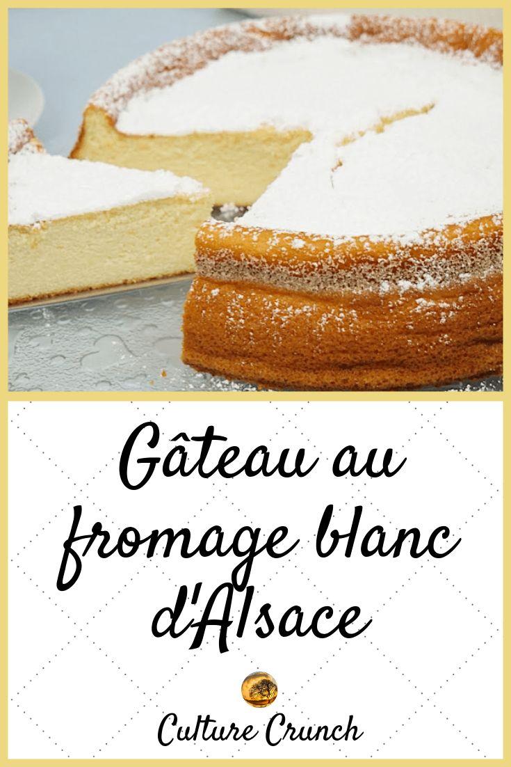 GÂTEAU AU FROMAGE BLANC D'ALSACE : la recette facile