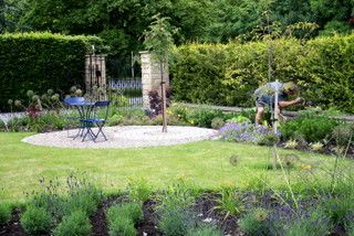 Large front garden at Adel, Leeds, West Yorkshire after design and build.