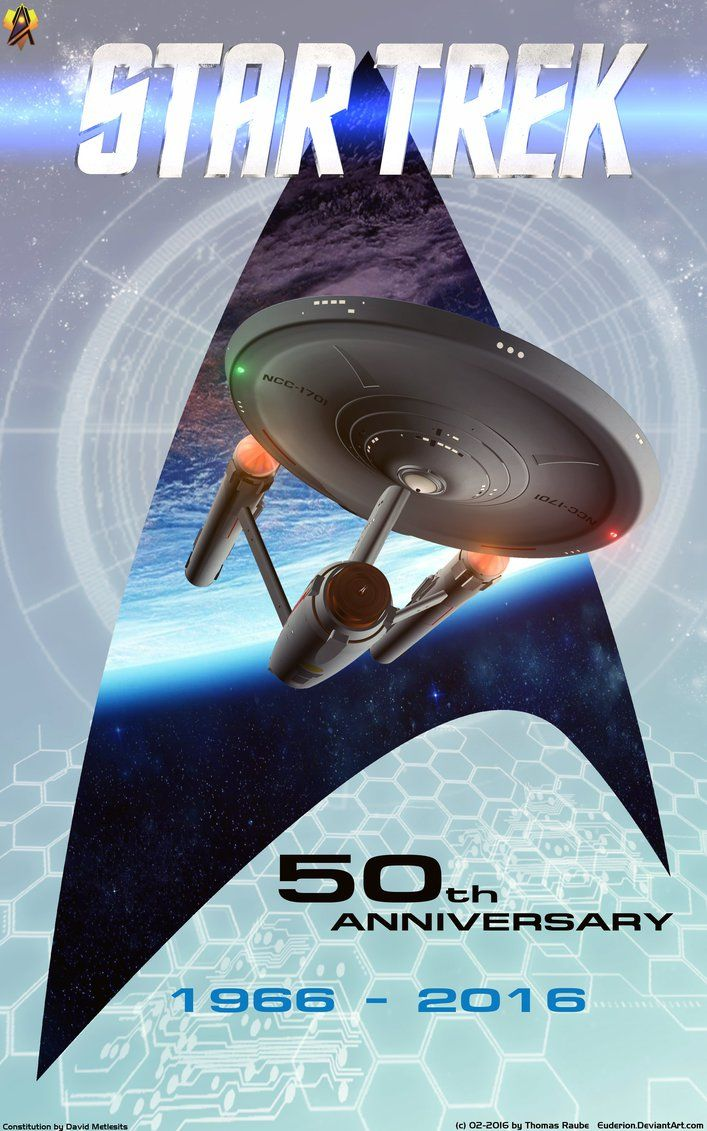 50 Years Star Trek by Euderion.deviantart.com on @DeviantArt ;-)~❤~