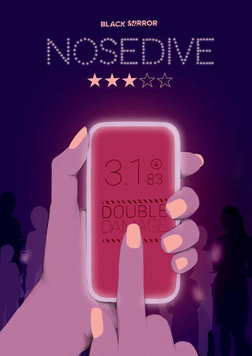 Black Mirror Nosedive -  illustration poster - Spiros Halaris Studio