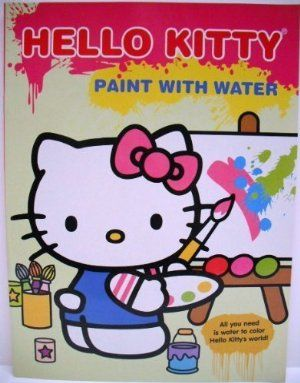 Hello Kitty Paint with Water Book - Hello Kitty at Easel by Modern Publishing. $9.79. No paint equals less mess. Great for little ones first introduction to painting. Use a paintbrush (sold separately) and water to transform the pictures into watercolor masterpieces.. 16 pages to paint and tear out. Paint with Hello Kitty. Paint with water books are a great introduction to painting!   The pages are spotted with dried paint.  Dip your brush (sold separately) into water...