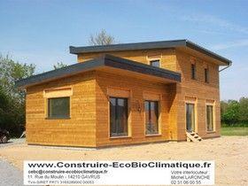 Toiture Bac Acier Construction Maison Passive Ossature Bois