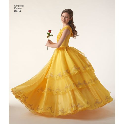Simplicity Pattern EA840401 Misses' Disney Live Action Belle Costume my wedding dress but in ivory and slight modifications to the bodice and sleeves