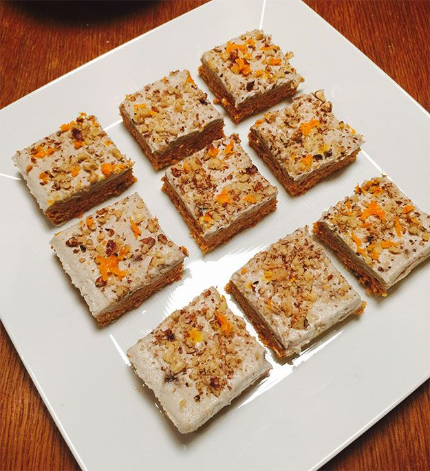 Raw vegan moist carrot cake with cashew, walnut and orange frosting | News | Lorraine Pascale