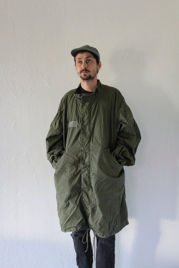 M65 Military Fishtail Parka Mens Large by FiestaForever on Etsy
