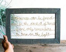 Harry Potter gerahmt Draht Zitat Zeichen / / Custom Quote / / zurückgefordert Holz / / Housewarminggeschenk / / Hochzeit Geschenk