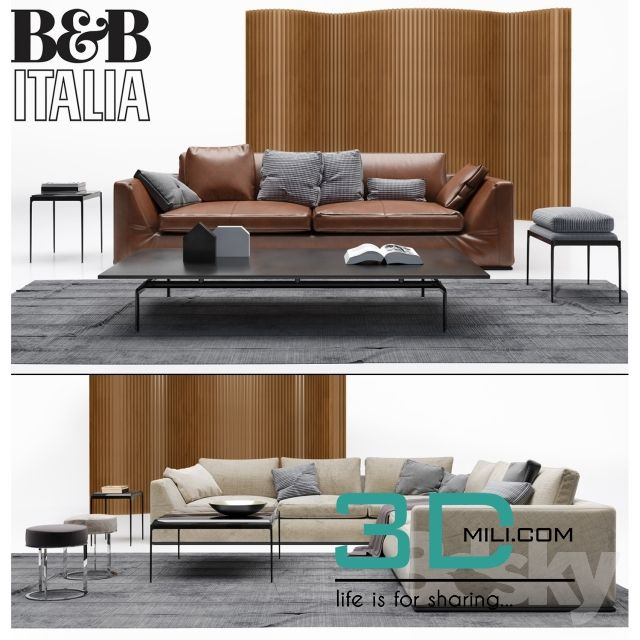 cool 492. B&B Italia sofa Download here: http://3dmili.com/furniture/sofa/492-bb-italia-sofa.html