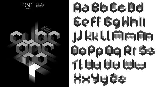 Gallery For > Geometric Font
