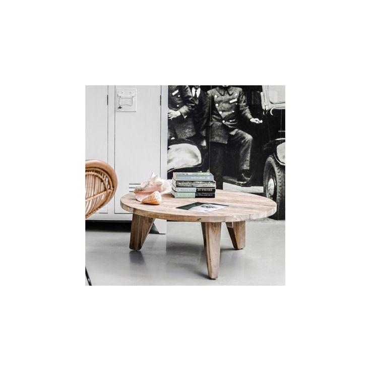 Soffbord trä lågt recyklad alm Inredning Dining table, Furniture, Home decor