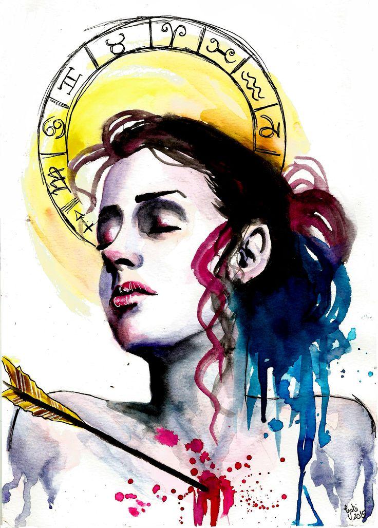 Zodiac Sign Sagittarius- Art By Gabi Xavier