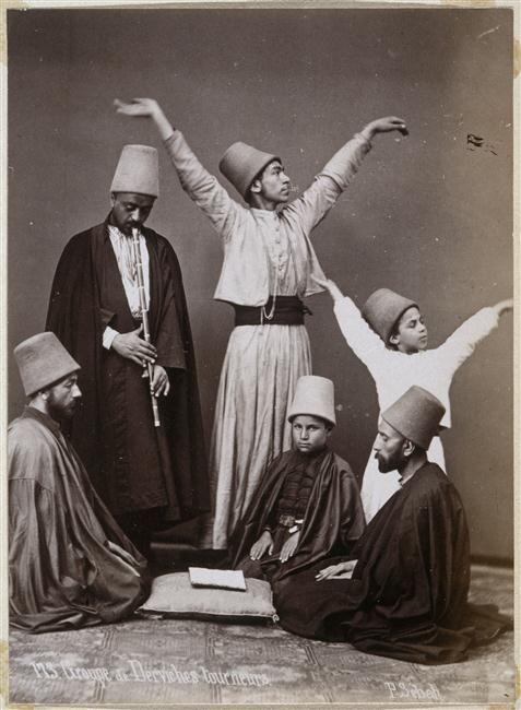 ::::♡م ♡ ✿⊱╮☼ ☾ PINTEREST.COM christiancross ☀❤•♥•* ✨♀✨ :::: Whirling Dervishes Group, 1870. Photographed by Sheba Pascal +++ DANCING SUFIS