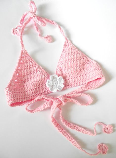 Crochet bikini for 4 years old baby girl