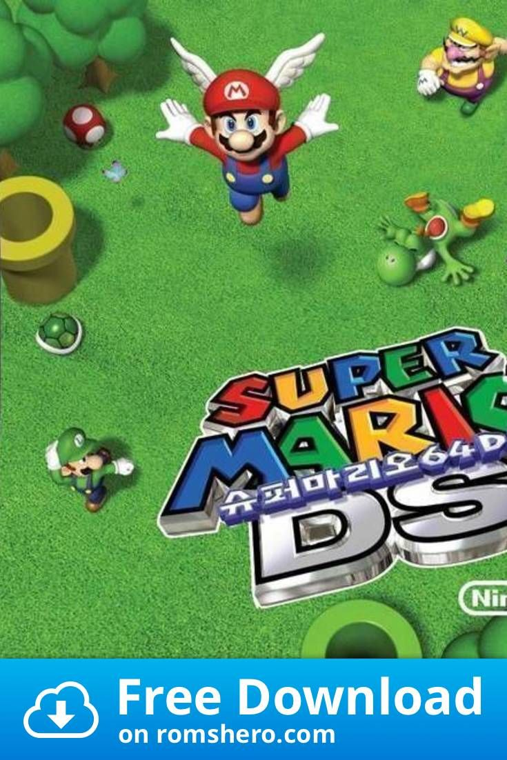 Download Super Mario 64 Ds Sir Vg Nintendo Ds Nds Rom Nintendo Ds Super Mario Mario