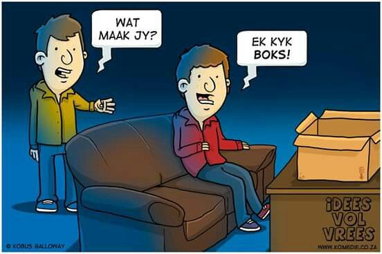 Idees vol vrees Afrikaanse grap. #snaaks #Afrikaans #humor # boks #ideesvolvrees