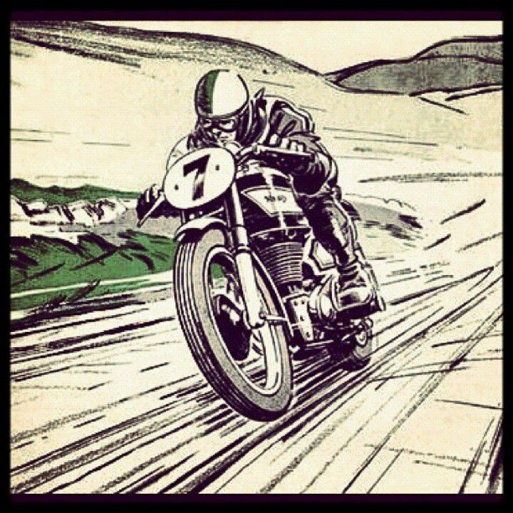 Looks like Racer X riding a café racer...