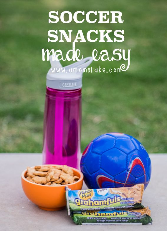 These are the perfect snacks for after a kids soccer game, fast and easy!