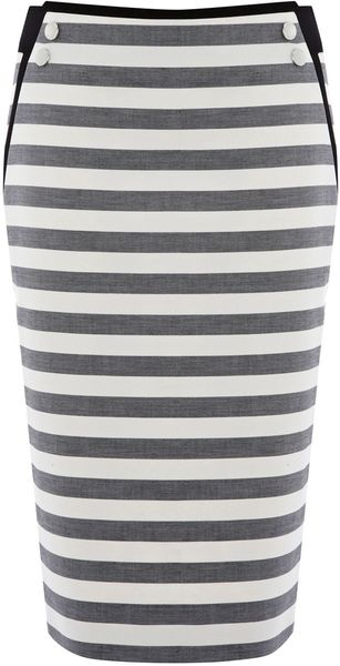 KAREN MILLEN ENGLAND Graphic Stripe Separates Skirt