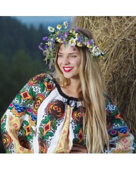 Romanianblouse  from Bukovina - ie romaneasca - bohemian top - boho style - Ukrainian vishivanka