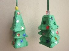 Egg Carton Christmas Trees …