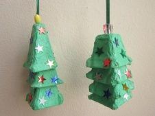 Egg Carton Christmas Trees …