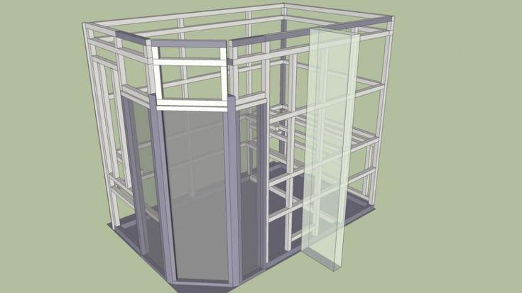 DIY // Sauna selber bauen: Holzgerüst mit SketchUp für Saunabau
