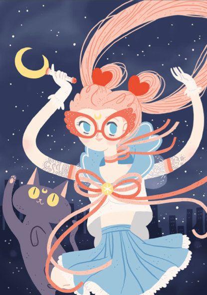 Sailor Moon Impresión de mi ilustración por frannerd en Etsy