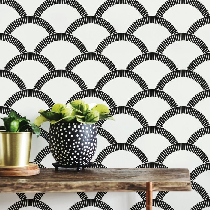 Mosaic Scallop Peel And Stick Wallpaper Wallpaper Roll Peelable Wallpaper