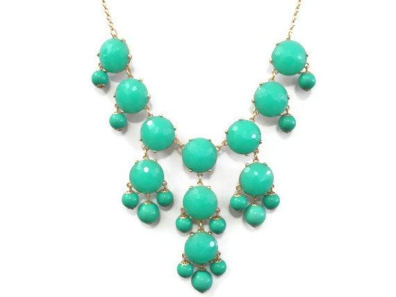 J.Crew Bubble Necklace Bauble Necklace Turquoise by MidnightGirls, $13.00