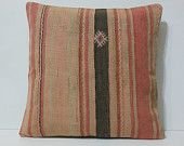 20x20 kilim cushions pastel pillow case big colorful seat cushions sofa cottage cushion accent pillow cover historical decor coral cream red