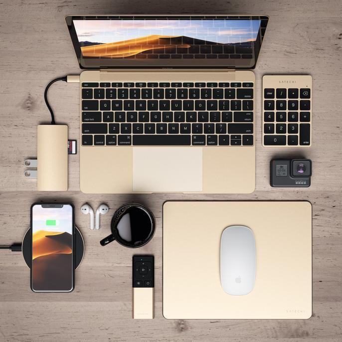 Aluminum Slim Rechargeable Bluetooth Keypad Computer Bluetooth Apple Products