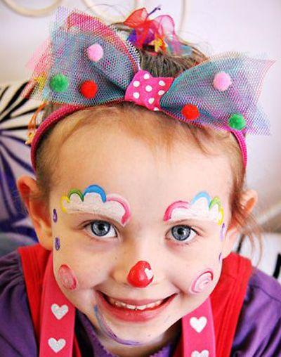 Trucco del viso per Carnevale per bambini da pagliaccio