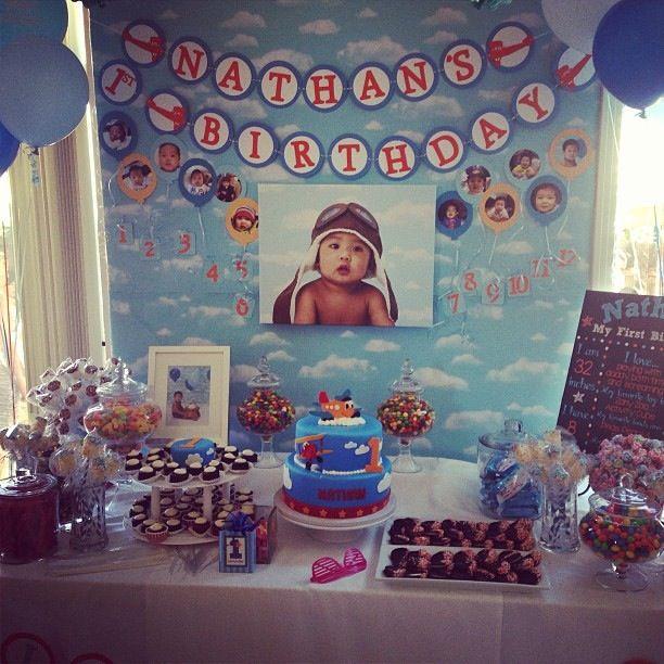 Time flies: airplane theme boy's birthday