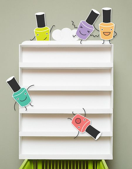 Nail Polish Rack Tutorial - Made from foam board!
