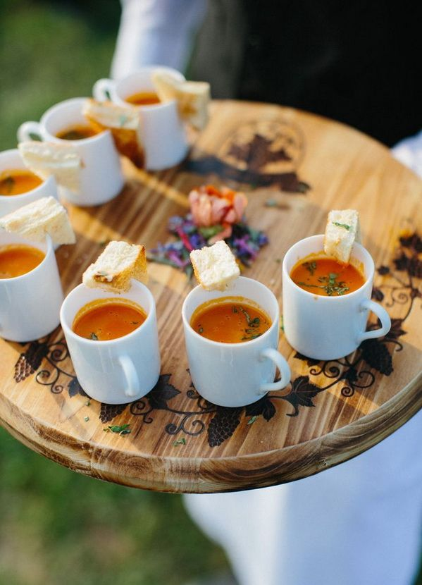 warming winter wedding recipes favor soups for guests