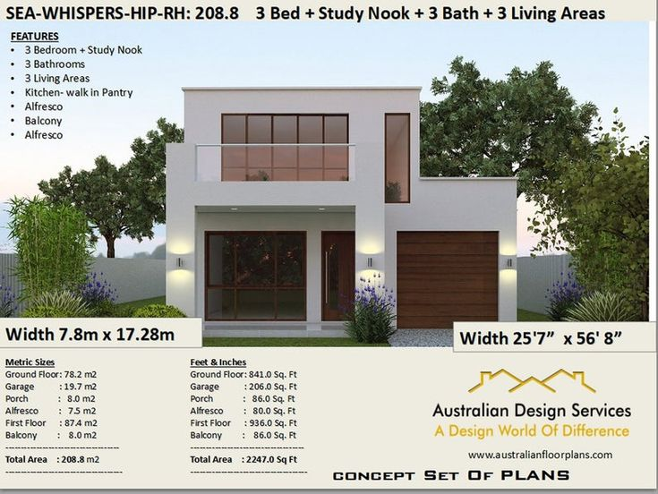 Duplex-Townhouse house plans Modern 2 story home 208 m2 ...